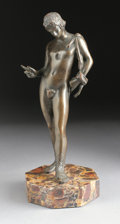 Bronze:Contemporary, A BRONZE FIGURE OF DAVID. 20th Century. 13 inches (33.0 cm)high. ...