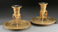 Bronze:Contemporary, A SMALL PAIR OF FRENCH GILT BRONZE JARDINIÈRES. 13-1/2 x 17 x 17inches (34.3 x 43.2 x 43.2 cm) each. ... (Total: 2 Items)