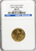 Modern Bullion Coins, 2007 $10 Quarter-Ounce Gold Eagle Early Releases MS70 NGC. NGCCensus: (0/0). PCGS Population (32/0). Numismedia Wsl. Pric...