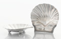 Silver Holloware, British:Holloware, A PAIR OF GEORGE III SILVER PLATED SHELL FORM BUTTER PLATES. Makerunidentified, Sheffield, England, circa 1810. Unmarked. 1...(Total: 2 Items)