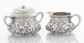 Silver & Vertu:Hollowware, AN AMERICAN SILVER CREAMER AND COVERED SUGAR BOWL. Dominick & Haff, New York, New York, 1881. Marks: (rectangle-925)(circle)... (Total: 2 Items)