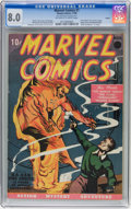 Golden Age (1938-1955):Superhero, Marvel Comics #1 Larson pedigree (Timely, 1939) CGC VF 8.0 Off-white to white pages....