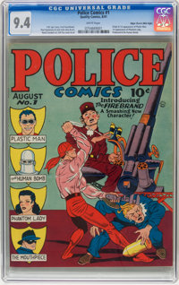 Police Comics #1 Mile High pedigree (Quality, 1941) CGC NM 9.4 White pages