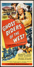 """Movie Posters:Serial, Ghost Riders of the West (Republic, R-1954). Three Sheet (41"""" X 81"""") Flat Folded. Serial.. ..."""