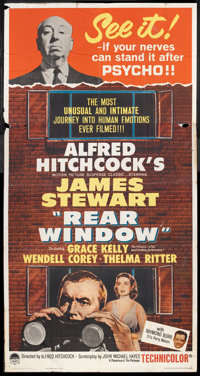 "Rear Window (Paramount, R-1962). Three Sheet (41"" X 81""). Hitchcock"
