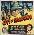 "Movie Posters:Crime, City of Shadows (Republic, 1955). Six Sheet (81"" X 81"") FlatFolded. Crime.. ..."