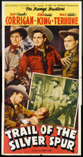"""Movie Posters:Western, Trail of the Silver Spur (Monogram, 1941). Three Sheet (41"""" X 81""""). Western.. ..."""