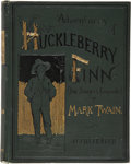 Books:First Editions, Mark Twain. Adventures of Huckleberry Finn (Tom Sawyer'sComrade). With one hundred and seventy-four illustr...