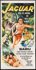 "Movie Posters:Adventure, Jaguar (Republic, 1955). Three Sheet (41"" X 81"") Flat Folded.Adventure.. ..."
