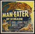 "Movie Posters:Adventure, Man Eater of Kumaon (Universal, 1948). Six Sheet (81"" X 81"").Adventure.. ..."