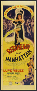 """Movie Posters:Comedy, Redhead from Manhattan (Columbia, 1943). Insert (14"""" X 36"""").Comedy.. ..."""
