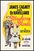 "Movie Posters:Comedy, The Strawberry Blonde (Warner Brothers, 1941). One Sheet (27"" X41"").. ..."