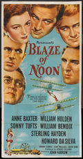 "Movie Posters:Action, Blaze of Noon (Paramount, 1947). Three Sheet (41"" X 81""). Action....."