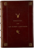 Books:Non-fiction, F. G. Stephens. Memoirs of Sir Edwin Landseer. A Sketchof the Life of the Artist, Illustrated with Reproductions ...