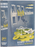 Books:First Editions, Raymond Chandler. The High Window. New York: Knopf, 1942..First Edition. Octavo. 240 pages.. Publisher's ta...