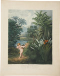 Antiques:Posters & Prints, Robert Thornton (1768-1837). Cupid Inspiring the Plants With Love..A lush and beautiful image, from Thornton's masterpiec...