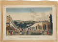 Antiques:Posters & Prints, [Vues d'Optique]. Four Perspective Views, Including Three of Paris,and One of Edinburgh.. Four lovely hand-colored opti... (Total:4 Items)