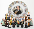 Miscellaneous:Ephemera, [Charles Dickens]. Collection of Seventeen Royal Doulton DickensCharacter Figurines and Dickens Plate.... (Total: 18 Items)