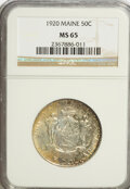 Commemorative Silver: , 1920 50C Maine MS65 NGC. NGC Census: (813/260). PCGS Population(855/362). Mintage: 50,028. Numismedia Wsl. Price for NGC/P...