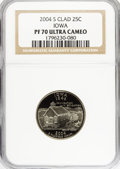 Proof Statehood Quarters, (2)2004-S 25C Iowa Clad PR70 Ultra Cameo NGC. PCGS Population(217/0). Numismedia Wsl. Price for NGC/PC... (Total: 2 coins)