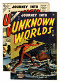 Golden Age (1938-1955):Horror, Journey Into Unknown Worlds #32 and 35 Group (Atlas, 1954-55)Condition: Average FN.... (Total: 2 Comic Books)