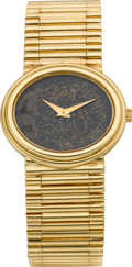Timepieces:Wristwatch, Piaget Lady's Gold Wristwatch, circa 1980's. ...