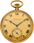 Timepieces:Pocket (post 1900), Tiffany & Co. Gent's Gold Pocket Watch, circa 1910. ...