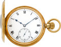 Timepieces:Pocket (post 1900), Vacheron & Constantin Gold Demi-Hunter, circa 1910. ...