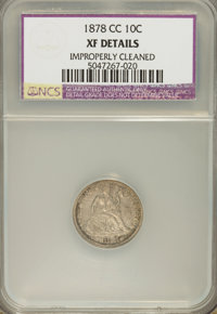 1878-CC 10C --Improperly Cleaned--NCS. XF Details. NGC Census: (2/47). PCGS Population (4/52). Mintage: 200,000. Numisme...