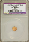 California Fractional Gold: , 1871 25C Liberty Round 25 Cents, BG-838, R.2,--Bent--NCS. AUDetails. NGC Census: (0/65). PCGS Population (10/395). (#106...