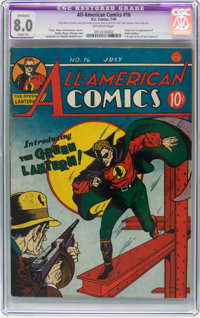 All-American Comics #16 (DC, 1940) CGC Apparent VF 8.0 Slight (P) Off-white pages