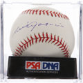 Autographs:Baseballs, Luis Aparicio Single Signed Baseball PSA Mint+ 9.5. ...