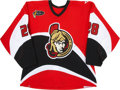 Hockey Collectibles:Uniforms, 2003-04 Todd White Ottawa Senators Game Worn Jersey. ...