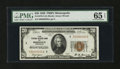 Small Size:Federal Reserve Bank Notes, Fr. 1870-I $20 1929 Federal Reserve Bank Note. PMG Gem Uncirculated 65 EPQ.. ...