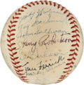 Autographs:Baseballs, 1947 Washington Senators Team Signed Baseball from the Ned Yost Family. ...