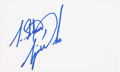 Golf Collectibles:Autographs, Tiger Woods Signed Index Card. ...