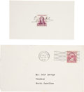 Autographs:Index Cards, 1937 Ty Cobb Signed Index Card. ...