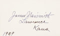 Basketball Collectibles:Others, 1939 James Naismith Signed Index Card. ...