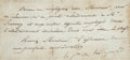 """Autographs:Military Figures, Charles Maurice de Talleyrand Autograph Note Signed. One page, 6"""" x 3"""", n.d., n.p., excised from a larger document. In the n..."""