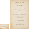 Books:Pamphlets & Tracts, Civil War Pamphlet: Savannah and Boston. Account of the SuppliesSent to Savannah with the Last Appeal of Edward Everett...