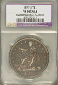 Trade Dollars, 1877-S T$1 --Environmental Damaged--VF20 NCS. VF20 Details. NGC Census: (2/926). PCGS Population (15/1375). Mintage: 9,519,0...