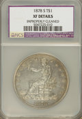 Trade Dollars, 1878-S T$1 --Improperly Cleaned--XF40 NCS. XF40 Details. NGC Census: (19/558). PCGS Population (46/734). Mintage: 4,162,000....