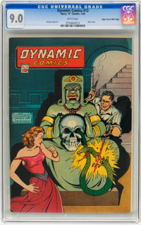 Dynamic Comics #13 Mile High pedigree (Chesler, 1945) CGC VF/NM 9.0 White pages
