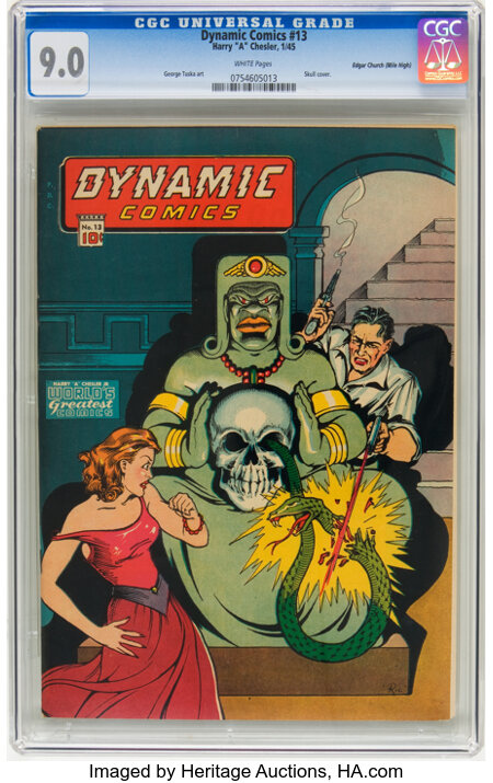 Dynamic Comics #13 Mile High pedigree (Chesler, 1945) CGC VF/NM 9.0 White pages. ...