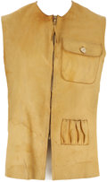 """Books:Non-fiction, [Ernest Hemingway]. Hemingway's Custom-Made Goatskin Shooting Vest, With His Initials and """"Ketchum, I."""" Written in His Hand on... (Total: 3 Items)"""