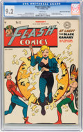 Golden Age (1938-1955):Superhero, Flash Comics #92 Mile High pedigree (DC, 1948) CGC NM- 9.2 White pages....