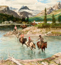 Paintings, JOHN FORD CLYMER (American, 1907-1989). Glacier National Park, Saturday Evening Post cover, July 30, 1960. Oil on board...
