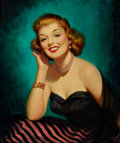 Pin-up and Glamour Art, ART FRAHM (American, 1906-1981). Girl of My Dreams. Oil oncanvas. 24 x 20 in.. Signed lower left. ...