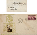 Autographs:Military Figures, George W. Goethals' Signature and Postal Cover. The signatureexcised from a larger document and mounted on cardstock, measu...
