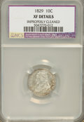 Bust Dimes, 1829 10C Small 10C XF40--Improperly Cleaned--NCS. XF Details. NGCCensus: (4/218). PCGS Population (9/185). Mintage: 77...